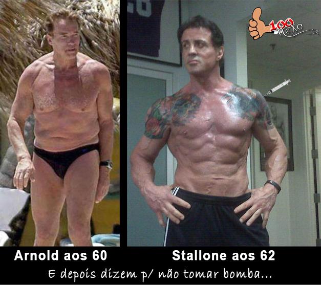 Pois é olha bem a diferença do Arnold Schwarzenegger aos 60 anos